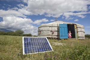 house in Mongolia using solar energy