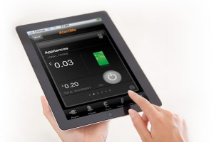 Alert Me smart monitoring interface for iPad