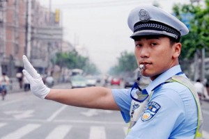 Chinese traffic policeman