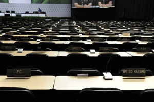 The scene at the UNFCCC COP16 climate change talks in Cancun
