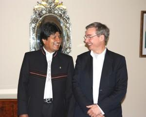 FCO's John Ashton and Bolivian President Evo Morales