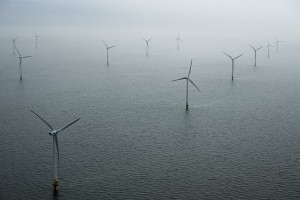 Vestas offshore wind turbines in the Kentish Flats