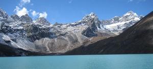 Gokyo lakes in the Himalaya, near Mount Everest