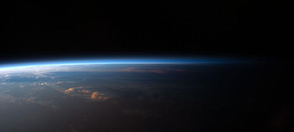 NASA shot of the earth from the International Space Station