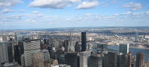 New York skyline from the Empire State Building