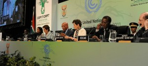 The panel of VIPs at the opening of the UN climate change summit