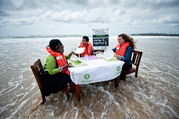 Oxfam International show effects of climate change on food security
