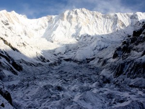 Mount Annapurna and Glacier