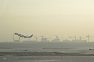 Smog at Beijing airport