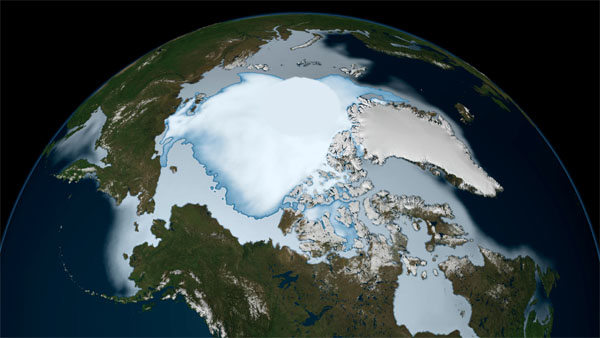 Sea ice image acquired November 1, 1979 - January 31 (© NASA)