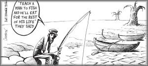 Cartoon #2 - Fishing in the desert
