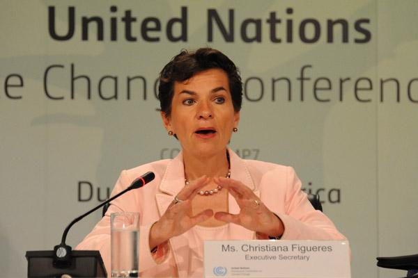 UN climate change chief sets out five goals for next negotiations