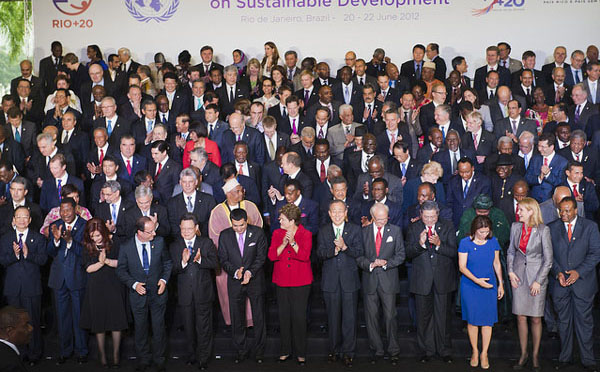 Causal photo of world leaders and delegates at Rio+20