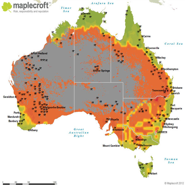 how much water is in australia 2018