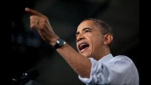 """Obama tells crowd: """"Denying climate change won't make it stop"""""""