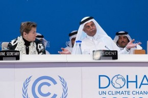 UN climate chief dismisses Russia 'hot-air' protest in Doha