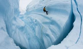Arctic glacier melt caught on camera