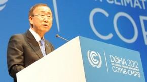 Ban Ki-moon weighs into finance debate at Doha climate talks