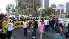 Historic Doha march heaps pressure on Qatar to make carbon cut pledge