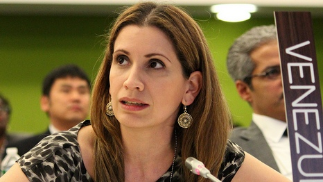 Venezuela's lead climate negotiator Claudia Salerno embodies the country's approach to the climate talks. (Source: Flickr/IISD Reporting)