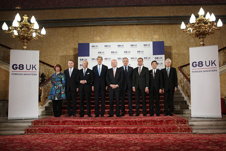 G8 ministers highlight climate change security threat