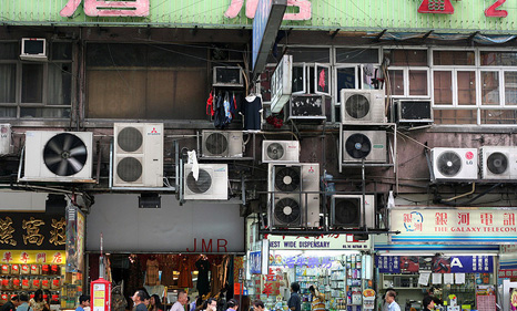 The growing use of HFC gases in air conditioners and refrigerators is increasing their contribution to global warming (Source: Flickr/NiallKennedy)