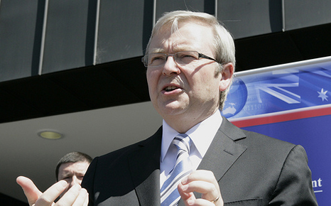 Australia Prime Minister Rudd pledges to scrap carbon tax by 2014