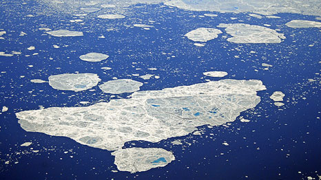 Sea ice is reaching summer lows in the Arctic (Pic: Flickr / David Astley)