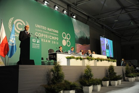 Poland's Environment Minister Marcic Korolec addresses the opening meeting of the 2013 UN climate summit (Pic: UNFCCC)