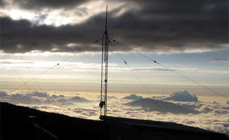 Dawn rising at the Mauna Loa observatory in Hawaii, where CO2 levels are recorded by US scientists (Pic: NOAA)