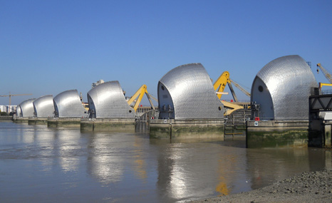 London's Thames Barrier could be tested by ever increasing high tides due to sea level rise (Pic: David Holt/Flickr)