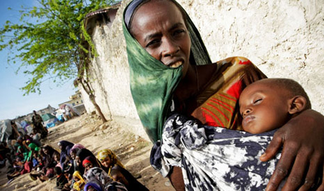 The 2011 drought and famine in East Africa was linked to climate change by the UK's Met Office (Pic: Stuart Price/UN)