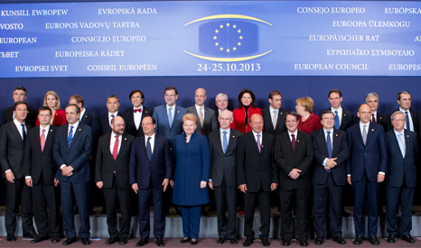 European leaders at the October 2013 Council meeting (Pic: EU)