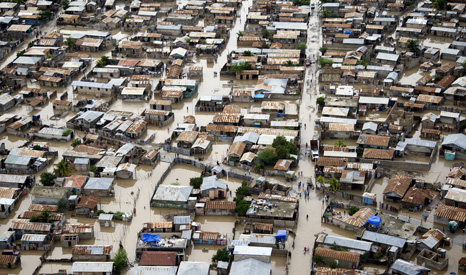 Flooding in Haiti during the hurricane season (Pic: UNICEF)