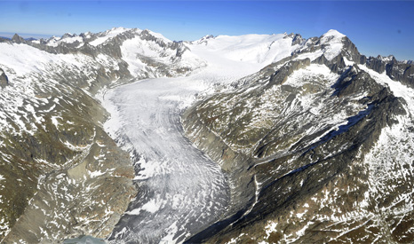 Rapidly decreasing glaciers in Switzerland are one of the potential signs of a warming world (Pic: UN Photos/Jean-Marc Ferre)