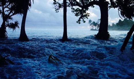Recent flooding in the Marshall Islands (Pic: Alson J Kelen)
