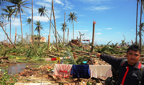 Climate change could cause an increase in extreme weather events like Typhoon Bopha in 2012, which left 600 dead (Pic: Sonny Day)