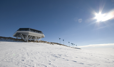 Belgium's research centre in Antarctica, where increased ice loss from the continental shelf is expected