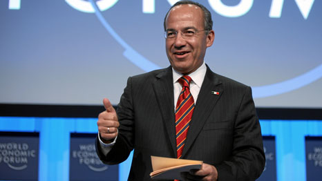 Calderon was Mexico's president for six years, during which he oversaw UN climate talks in Cancun (Source: World Economic Forum)