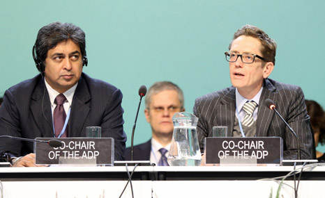 Kishan Kumarsingh and Artur Runge-Metzger are set to have a tough time chairing talks in Bonn (Pic: IISD)