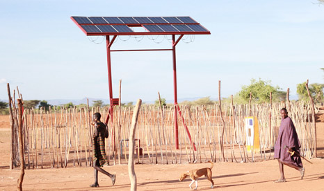 Projects like this solar powered water pump in Kenya can transform the lives of small communities (Pic: Practical Action)