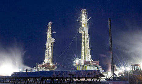 Fracking rigs in British Colombia (Pic: Nexen/Flickr)