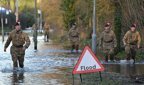 Heavy flooding at the start of 2014 forced the UK to call up the Army to help stricken communities (Pic: MOD)