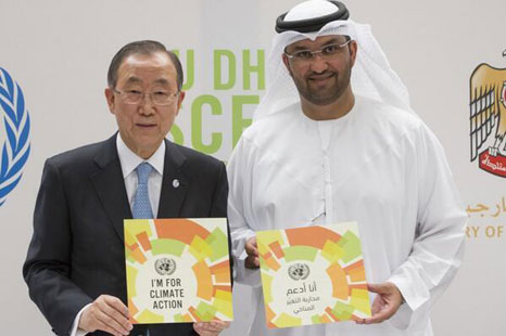 Ban Ki-moon helped ministers prepare for Summit at least week's Abu Dhabi Ascent
