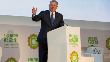 Al Gore speaks at the Abu Dhabi Ascent (Pic: Entrepreneur ME/Twitter)