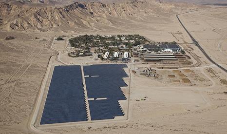 Israel's first solar field, located at Kibbutz Ketura in Israel's Arava Valley (Arava Power Company Company/Flickr)