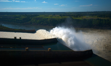 The Itaipu Dam is Brazil's largest, supplying 19% of electricity consumed in the country (Pic: Kevin Jones/Flickr)