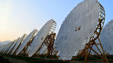 A solar thermal power plant in India (Pic: Wikipedia)