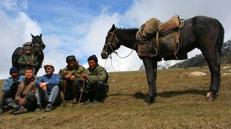 Kyrgyz shepherds in the  Grigorievskoe gorge (Pic: bilwander/Flickr)
