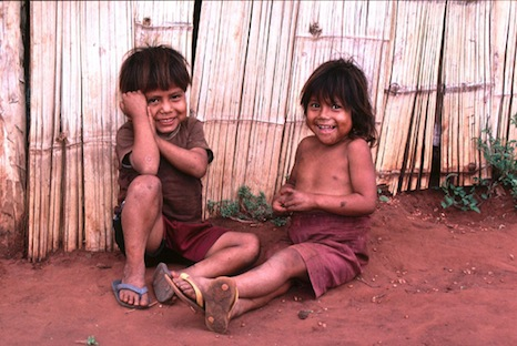 Members of the Guarani tribe in Brazil face an uncertain future as energy companies encroach onto their land (Pic: Nagillum/Flickr)